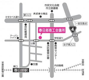 春日部市商工振興センターの地図